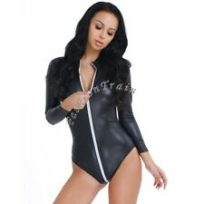 Sexy Women Lingerie Wetlook Jumpsuit Bodysuit Catsuit Leotard Clubwear Nightwear
