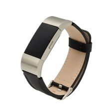 New Replacement Leather Band Wrist Strap Metal Buckle For Fitbit Charge 2 UB