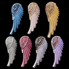 Crystal Rhinesotne Angel Wing Pendant for DIY Necklace Chain Earrings Jewelry