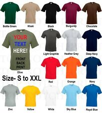 CUSTOM PERSONALISED DESIGN YOUR OWN T-SHIRTS PRINTED PRINTING WORK MENS LADIES