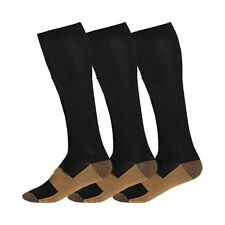 (5 Pairs) Copper Compression Support Socks 20-30mmHg Calf Miracle Foot Men Women