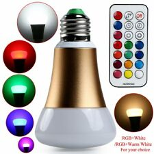E27 10W RGB Colorful Changing LED Bulb Light Emergency Lamp W/Remote Controller