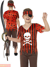 Children Jolly Roger Pirate Costume Boys Buccaneer Fancy Dress Book Week Outfit