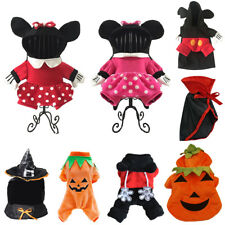 Mickey Minnie Costume For Pet Puppy Dog Cat Halloween Clothes Fancy Dress Up