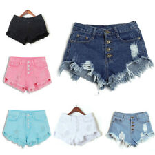 Summer Lady  High Waisted Washed Ripped Hole Short Mini Jeans Denim Pants Shorts