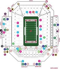 2 TEXAS TECH RED RAIDERS @ OU OKLAHOMA SOONERS TICKETS SECTION:16 ROW: 21
