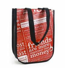 Lululemon SM & LG  Reusable Bag BLACK Eco Lunch Tote Yoga Gym Shopping  #2437