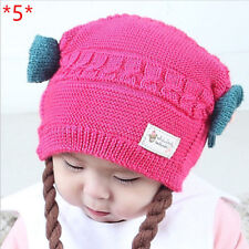 Cute Infant Hats Baby Winter Knitted Caps Crochet Hat Handmade Beanie Toddler