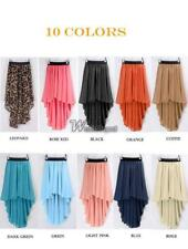 New Fashion Women Chiffon Pleated Retro Asymmetrical Swallow Tail Short WT88