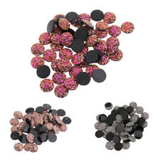 50pc 12mm Ore Style Flat Back Resin Cabochon Cameo Cabochons Jewelry Accessories