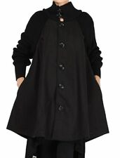 Women's New Winter Wool Button Down Coat A-line Swing Overcoat Pea Coats Jacket
