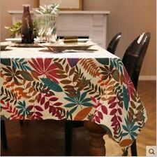 New Fashion Style Party Home Decor Solid Pattern Vintage Tablecloth
