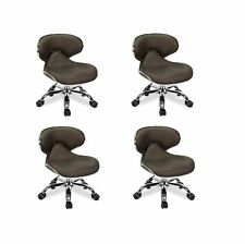 4x Salon Spa Pedicure Stool Nail Chair UMI COFFEE Pneumatic Adjustable Rolling
