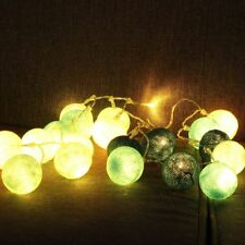 20LED Cotton Ball Fairy String Light Wedding Holiday Party Patio Christmas Decor