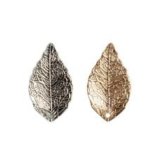 20pcs Vintage Alloy Leaf Leaves Pendant Charms DIY Jewelry Findings Sliver/Gold
