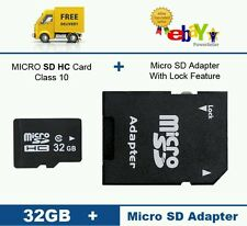 32GB Micro SD Memory Card Class 10 Smart Phones, Tablets & Cameras+ FREE ADAPTE