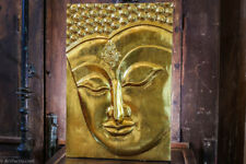 Wooden Gold Buddha Hand Carved Wall Panel