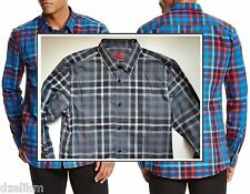 NWT HUGO (Hugo Boss Red Label) Slim Fit Cotton Button Down Check Shirt Shirt