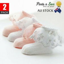 2Lace Girls Ruffle Baby Princess Kids Ankle Socks Frilly New Infant Toddler