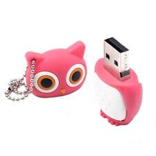 Memory Stick Cute USB Flash Drive Lovely Owl Pen Drive Cartoon Model Pink