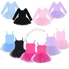 Girls Kids Leotard Ballet Tulle Dance Dress Fairy Fancy Costumes Tutu Dance Wear