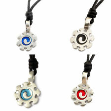 New Ying Yang Silver Pewter Charm Necklace Pendant Jewelry
