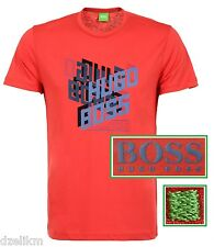NWT Hugo Boss Green Label by Hugo Boss Tee Logo T-Shirt in Red Size XL