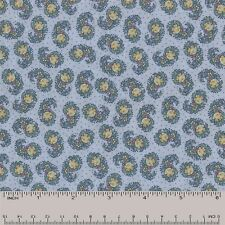 Quilt Fabric Quilting Cotton Calico Blue Floral Swirls: FQ or Cut-to-Order