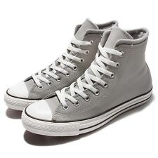 Converse Chuck Taylor All Star Grey White Leather Mens Casual Shoes 153818C