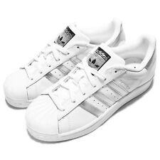 adidas Originals Superstar White Silver Womens Classic Shoes Sneakers AQ3091
