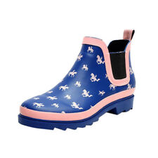 US Ladies Waterproof Printed Rain Boots Womens Non-slip Rubber Shoes Ankle Boots