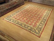 9 x12 High Quality Handmade Antique Persian Laver Kerman Rug  _Soft Silky Wool