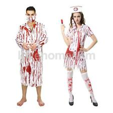 Scary Bloody Zombie Doctor Costume Mens Suit Halloween Party Fancy Dress
