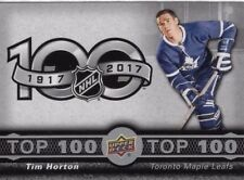 17-18 UD Tim Hortons Hockey Top 100 Checklist (#TOP-1-#TOP-7) U-Pick From List