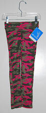 NWT Columbia Girls Cozy Cabin Pink & Green Camo Knit Thermal Leggings Sz 4-5