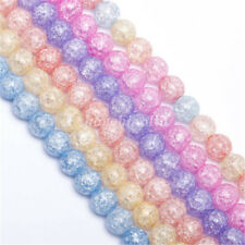 Round Crackle Art Crystal Glass Beads Loose Spacer Findings New 4/6/8/10/12/14mm