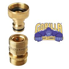 New Garden Hose Quick Connector. ¾ inch GHT Brass Easy Connect Fittings