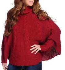NEW - Kate & Mallory® Wool Knit Blend Long Sleeved Turtleneck Poncho Sweater