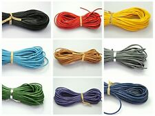 32.8 Feet  Round Real Leather Jewelry Cord 2mm Pick Your Color