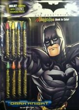 DARK KNIGHT BATMAN MILKY CRAYONS WITH BLACK COLORING PAGES BRIGHT **BRAND NEW**