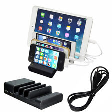 4 USB Multi-Port USB Charging Station Travel Desktop Wall Charger For iPhone 8+