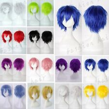 Short Cosplay Hair Wig Fluffy Straight Party Anime Full Wig Women Men Costume 88