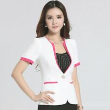 4 Color Summer New Fashion Short Sleeve Plus Size Blazer For Women
