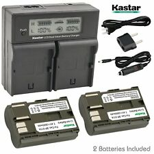 Kastar 2 Battery & Dual Ultra Fast Charger for Canon BP-511 BP-511A BP511 BP511A