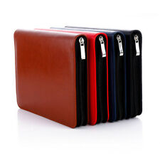 A5 2018 Daily Planner Schedule Notebook Diary Zipper Leather Card Pen Holder #JP