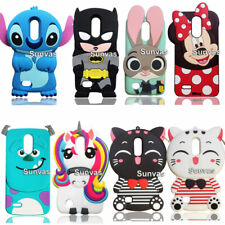 3D Cartoon Cute Soft Silicone Case Back Cover Shell Protector For LG K10 2017
