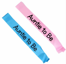 WakaParty® Auntie to Be Sash Baby Shower Party Decoration Pregnant Gifts