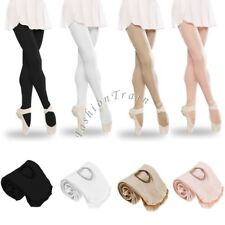 FOOTED CONVERTIBLE BALLET DANCE TIGHTS STOCKINGS PANTYHOSE CHILDREN&ADULT S-L