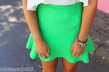ZARA GREEN A-LINE MINI SKIRT REF.2622/819 S BLOGGERS FAVORITE