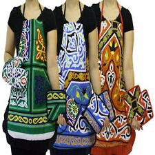 BIB APRON HOME KITCHEN COOKING NEW CHEF DRESS Aprons With Oven mitt &Pot Holders